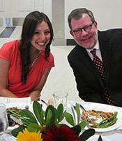 Marina Kuperman with President Eric Kaler